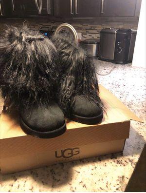 Black Uggs w/fur for Sale in Rockville, MD