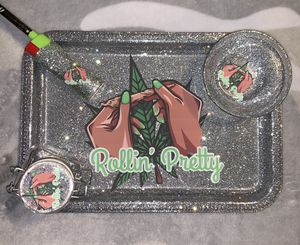 Rollin pretty rolling tray set for Sale in San Francisco, CA