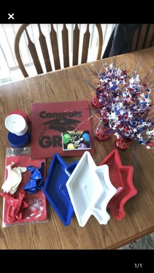 Red, white and blue graduation party supplies for Sale in Appleton, WI