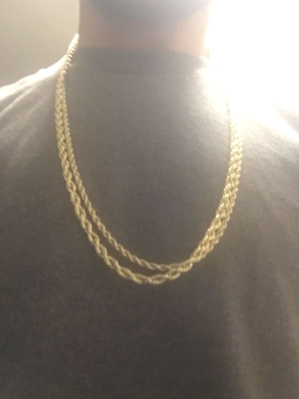14k gold rope chain the bigger one