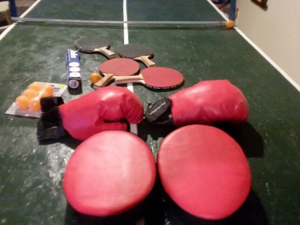 Boxing gloves and hitting mitts