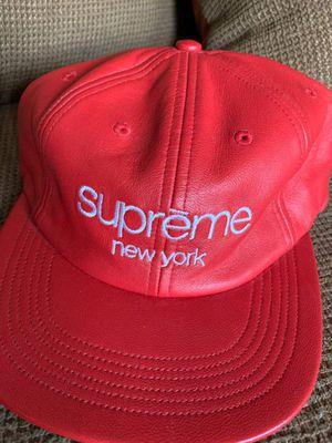 Supreme NY 6-Panel Hat (Leather) for Sale in Atlanta, GA