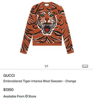 Gucci embroidered tiger sweater for Sale in Los Angeles, CA