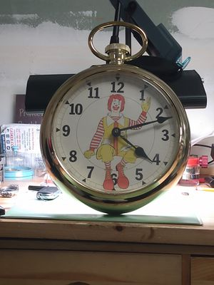Rare Antique Ronald McDonald's Pocket Watch Clock for Sale in Franklin, TN