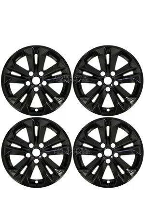 "fits 2014-16 Nissan Rogue SV 17"" Black Wheel Skins Hubcaps Full Alloy Rim Covers for Sale in Pearland, TX"