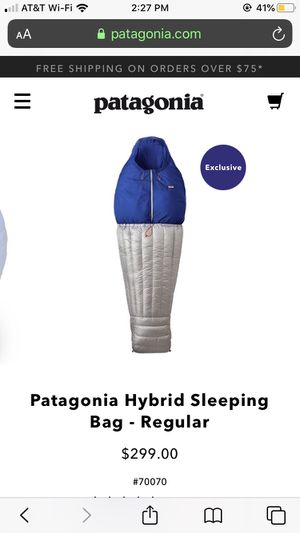 Patagonia Hybrid Sleeping Bag for Sale in Piedmont, CA
