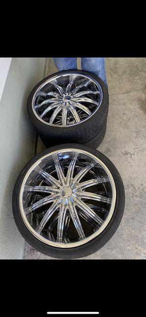 mud tires/22's for Sale in La Puente, CA