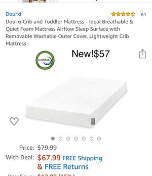New Toddler mattress $57 for Sale in Brooklyn, NY