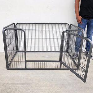"""New in box $75 Heavy Duty 49""""x32""""x28"""" Pet Playpen Dog Crate Kennel Exercise Cage Fence, 4-Panels for Sale in Whittier, CA"""