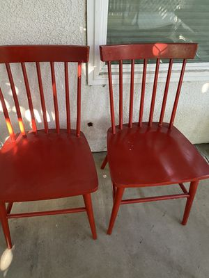 2 Wooden Chairs ready for home schooling for Sale in Upland, CA