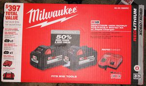MILWAUKEE HIGH OUTPUT 8.0&6.0+RAPID CHARGER KIT(NUEVA) for Sale in Irving, TX