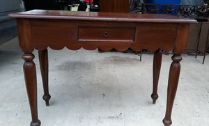 Solid wood vintage entry table or use it as a desk for Sale in San Antonio, TX