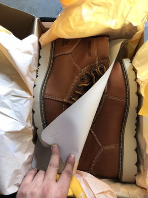CAT Footwear Men's Tradesman 6'' Work Boots - Soft Toe - TAN Size 7(W) for Sale in Temple City, CA
