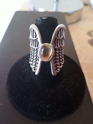 925 STERLING SILVER MOONSTONE ANGEL WINGS RING SIZE 6 for Sale in Phoenix, AZ