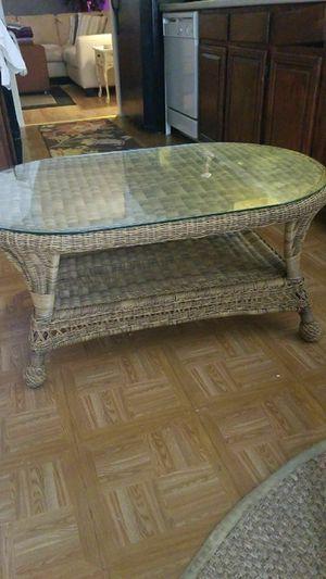 Indoor outdoor Wicker coffee table for Sale in Cuba, MO