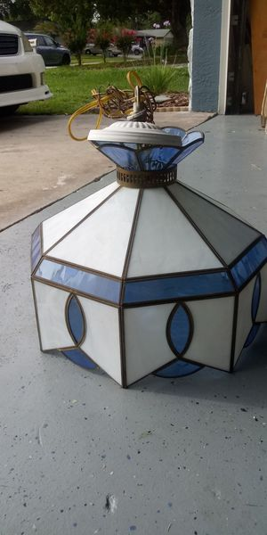 Antique stained glass hanging light for Sale in Oldsmar, FL