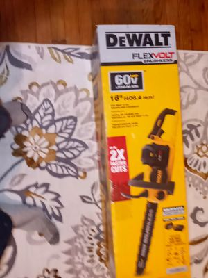 DEWALT 60V. LITHIUM ION BRUSHLESS. CHAINSAW for Sale in Portland, OR