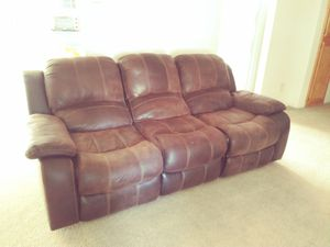 Couch. Vacuums. Panasonic tv w/ DVD/VHS player for Sale in Fresno, CA