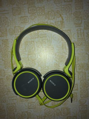 Sony Grey & Green Headphones for Sale in Lakewood, OH