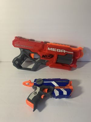 Nerf Mega CycloneShock & Fire Strike Nerf Gun's Great Condition!! for Sale in San Dimas, CA