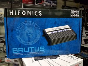 HIFONICS BRUTUS 4 CHANNEL AMPS... for Sale in San Bernardino, CA
