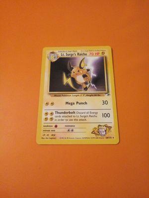 Lt surges raichu pokemon card for Sale in Chicago, IL