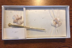 Lillian Rose Seaside Wedding Guestbook with Pen for Sale in Selma, TX