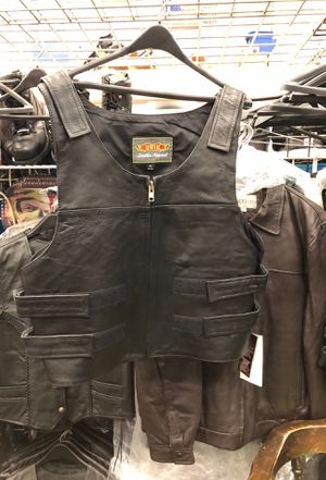 Bullet Proof Style Leather Vest for Sale in Tinley Park, IL