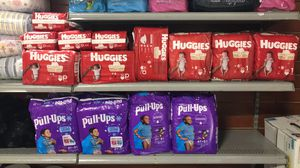 DISCOUNT!! Diapers Pull ups, Huggies, Kirkland, Pampers and more for Sale in Doraville, GA