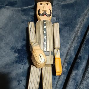 Baseball Wooden Doll Vintage for Sale in El Paso, TX