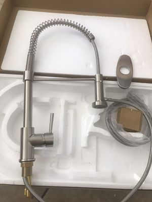 Brand new stainless steel spring spray kitchen faucet brush nickel for Sale in Laveen Village, AZ