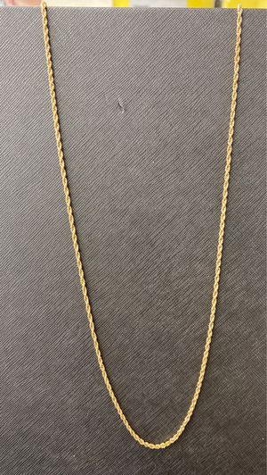14K Yellow Gold Rope Chain for Sale in Miami, FL