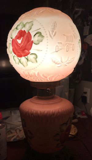 Vintage/collectors Victorian Gone with the Wind rose lamp for Sale in Silver Spring, MD