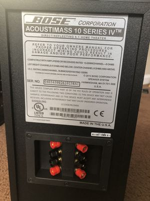 Bose Acoustimass IV sub used once with 5 double cube speakers still in good working conditions for $250 for Sale in Tracy, CA