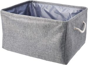 AmazonBasics Fabric Storage Basket Container with Handles and Drawstring, Large Visit the AmazonBasics Store for Sale in Tinley Park, IL