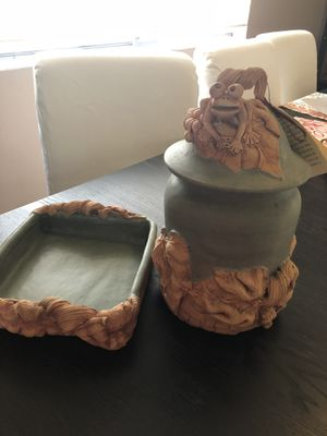 Frog Cookie Jar & Dish for Sale in Potomac, MD