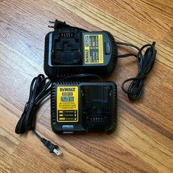 Lot of 2 Dewalt 12v/20v/60v battery charger for Sale in Milwaukie,  OR
