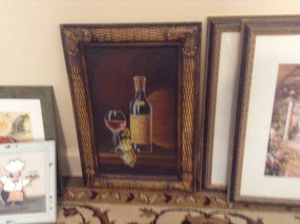 """Wall art - wine grapes - 16 x 20"""" - new never used - $15 firm for Sale in Boca Raton, FL"""