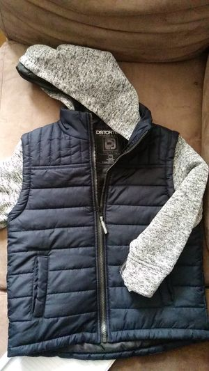 Navy blue/ knitted hoodie and arms OuterWear size 7 for Sale in East Point, GA