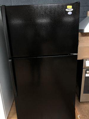 Whirlpool black top freezer refrigerator for Sale in Woodbridge, VA