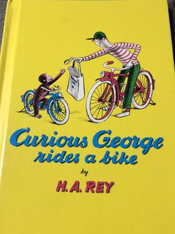 Used Vintage Hardcover 1995 Childrens Book : Curious George Rides a Bike by H.A. Rey for Sale in Pinellas Park,  FL