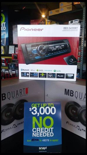 Pioneer Bluetooth stereo usb aux brand new with 4 sets of brand new mb quart speakers finance available for Sale in Fremont, CA