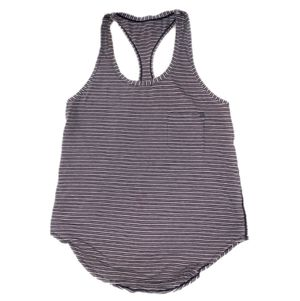 Like-New Lululemon Size 4 Tank Top T-Shirt, Black Striped, Women's Yoga, Running, Gym, Hiking, Biking Clothing (Like Gymshark, Patagonia) for Sale in Canton, MI