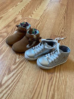 Toodler girl Uggs and Michael kors boots. for Sale in Ossining, NY