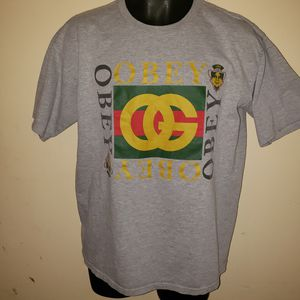 Obey Vintage Tee Shirt sz. LARGE mens Graphic tee for Sale in San Bernardino, CA