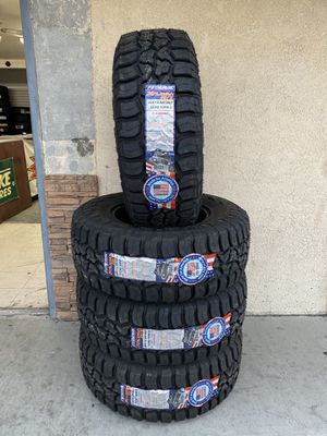 35X12.50R18 FOUR BRAND NEW TIRES , INSTALLATION & BALANCING INCLUDED for Sale in Rialto, CA