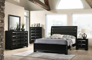 WE ARE OPEN! BEAUTIFUL NEW MONTE CARLO BLACK QUEEN BED, DRESSER, MIRROR, NIGHT STAND AND CHEST SET ON SALE ONLY $699. KING SET $799. for Sale in Tampa, FL