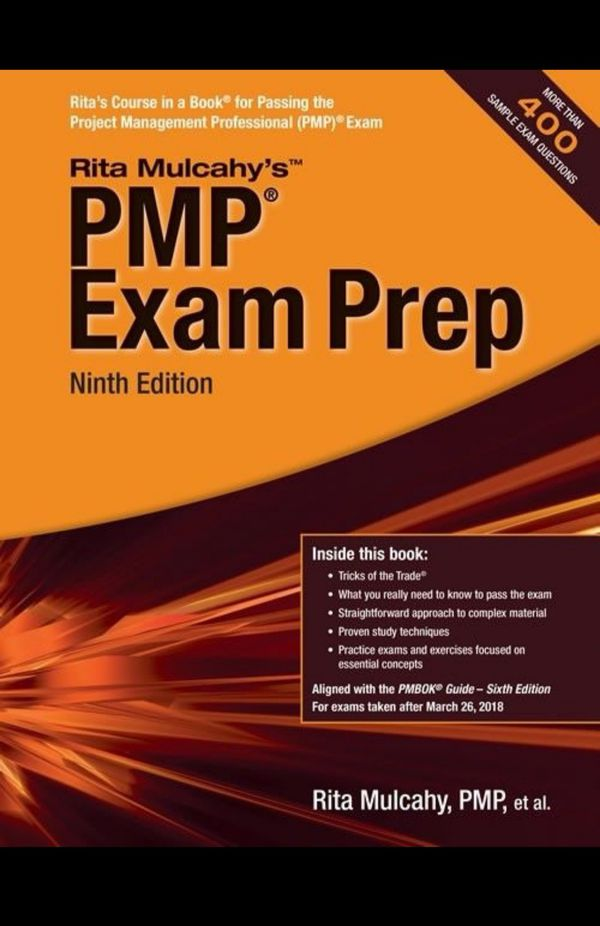 Rita Mulcahy PMBOK 6, PMP certification complete set