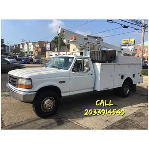 1997 FORD F450 BUCKET TRUCK AUTO 105,000 MILES ONLY RUNS GOOD for Sale in Bridgeport, CT