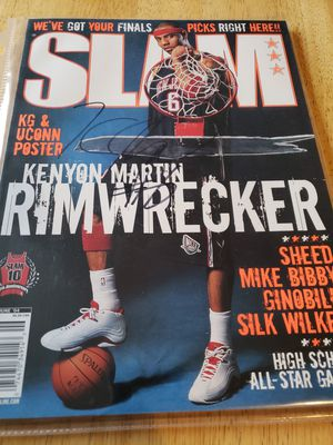 Signed Kenyon Martin Nets Slam magazine for Sale in Gresham, OR